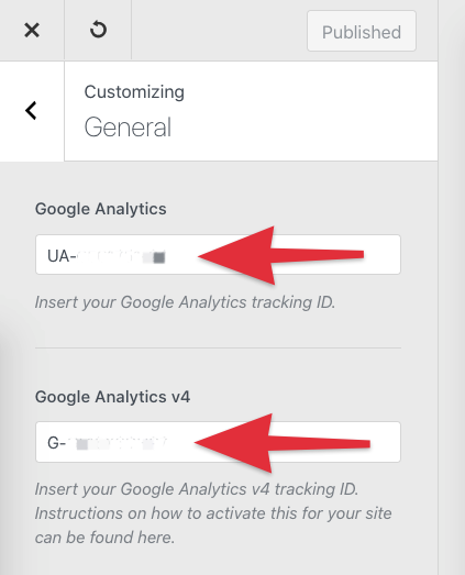 Blocksy add Google Analytics 4