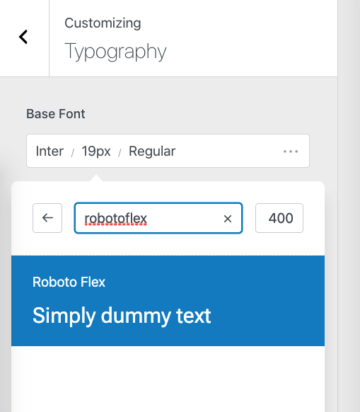 Variable fonts in WordPress available in the UI
