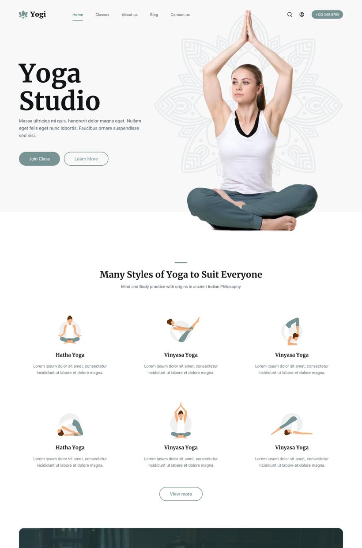 Yogi Starter Site